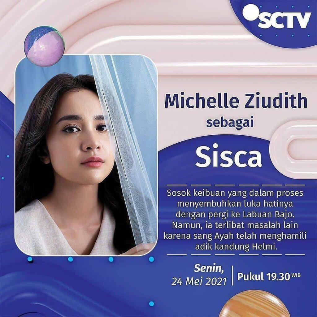 michelle ziudith berperan sebagai sisca di sinetron badai pasti berlalu